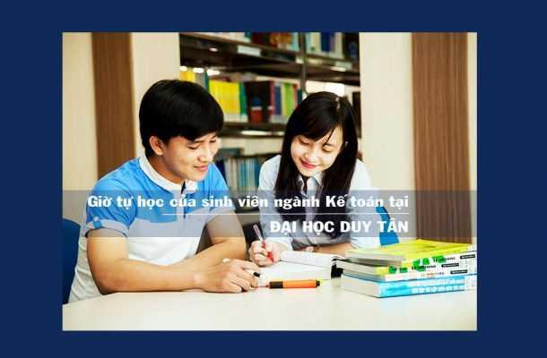Giờ tự học của sinh viên ngành kế toán tại ĐH Duy Tân